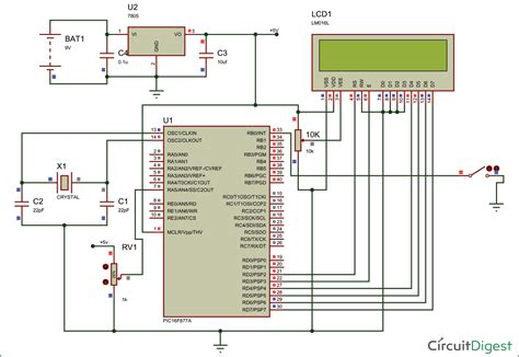 Circuit Diagram And Explanation by How To Save Data Using Eeprom In Pic16f877a Microcontroller