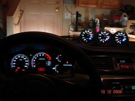 rexpeed triple dash gauge pod evo  evo  gauge