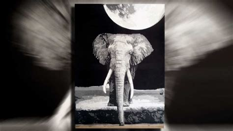 elephant multilayer stencil art youtube