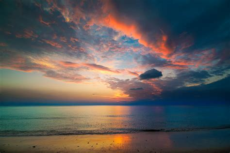 Free Background by Seascape After Sunset Background High Quality Free