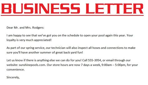 letters  business   letter