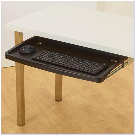 desk with keyboard drawer under desk keyboard tray for glass desk desk home design