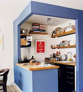 5 astuces pour amenager une petite cuisine habitatpresto With delightful meuble cuisine petit espace 5 idee petite cuisine ouverte sur salon cuisine en image