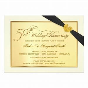 50th golden wedding anniversary invitations 11 cm x 16 cm With golden wedding anniversary invitations