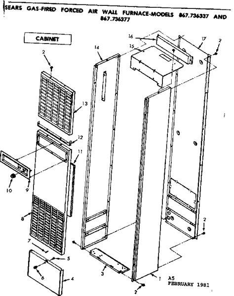 wall furnace forced air gas wall furnace