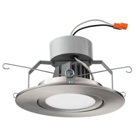 6 gimbal led recessed lighting lithonia lighting 6 in brushed nickel led recessed