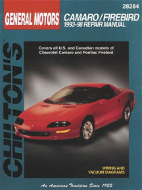 free auto repair manuals 2002 chevrolet camaro regenerative braking chilton chevrolet camaro pontiac firebird 1993 2002 repair manual