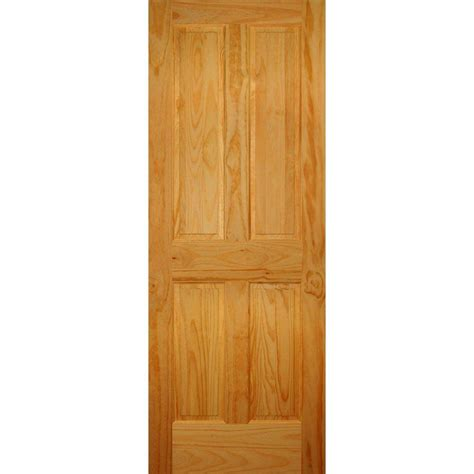 doors interior home depot builder 39 s choice 28 in x 80 in 4 panel solid pine