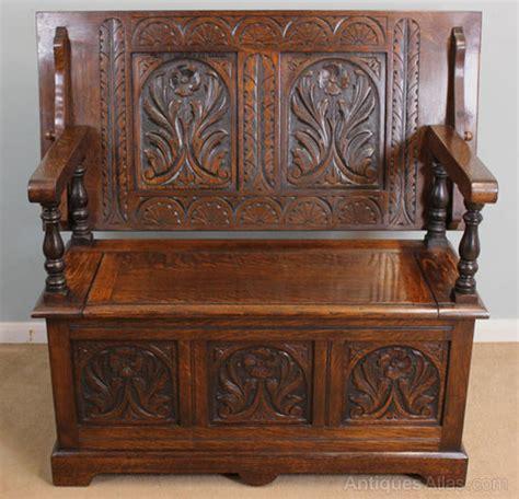 Antique Oak Monks Bench, Settle  Antiques Atlas