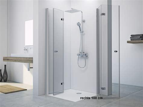 Dusche Drehfalttür Eckeinstieg 100 x 80 x 220 cm