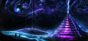 Pyramids of the future - Louis Dyer Visionary Digital Artist