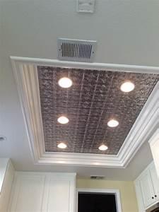Kitchen ceiling lights on