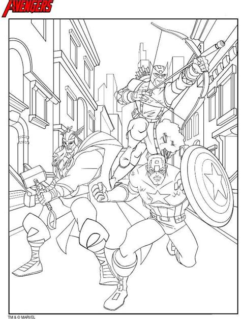 kids n fun com coloring pages of avengers