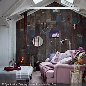 Shabby Look Wohnzimmer : rustikale holzwand wohnen im shabby chic stil pinterest wohnzimmer holzwand und wohnen ~ Frokenaadalensverden.com Haus und Dekorationen