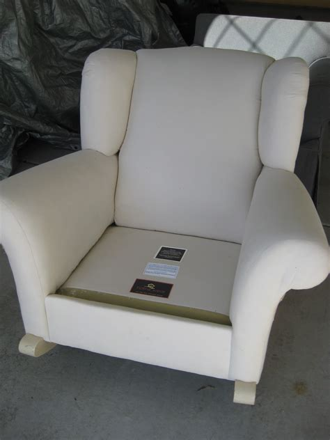 custom slipcovers by shelley upholstered rocking chair