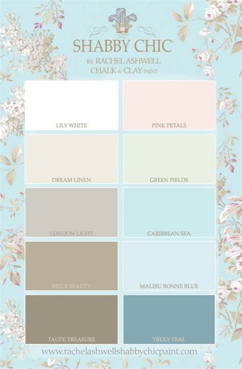shabby chic color palette the ultimate shabby chic color palette home decor pinterest paint colors clay paint and grey