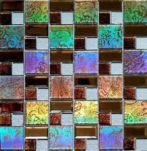 Iridescent, Glass, Tile, Mosaic