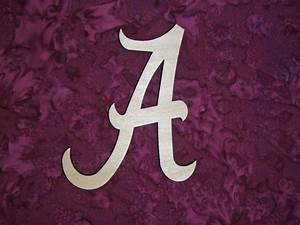 letter a wood cut out unfinished wooden letters With wooden alabama a letter