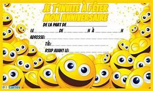Invitation anniversaire Enfants 123 cartes