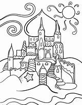 Coloring Pages Sandcastle Printable Printables Coloringcafe Colour Colouring Castle Summer Print Sheet Pdf Drawings Children Outline Themes Holiday Toddlers Paper sketch template
