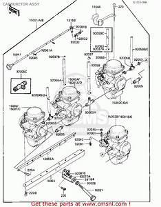 Kawasaki 1984 Zx750-e1 Gpz 750 Turbo Carburetor Assy