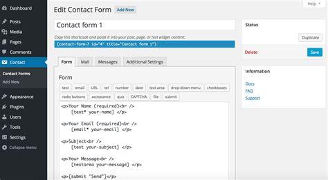 contact form  wordpress plugin wordpressorg