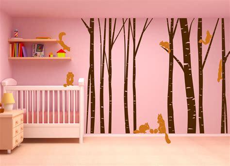 Birch Tree Forest Set Vinyl Wall Decal Nursert Art