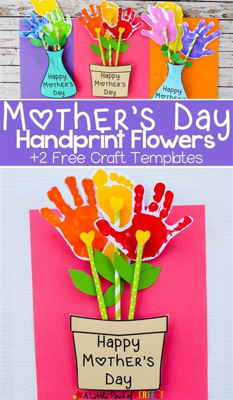 s day card templates for preschoolers adorable s day handprint flower craft and free