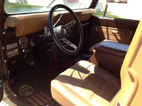 jeep golden eagle interior purchase used jeep cj7 golden eagle original survivor