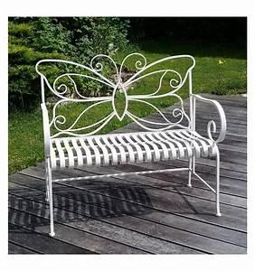 Banc De Jardin En Fer : banc de jardin en fer forg blanc salon de jardin en fer forg ~ Melissatoandfro.com Idées de Décoration