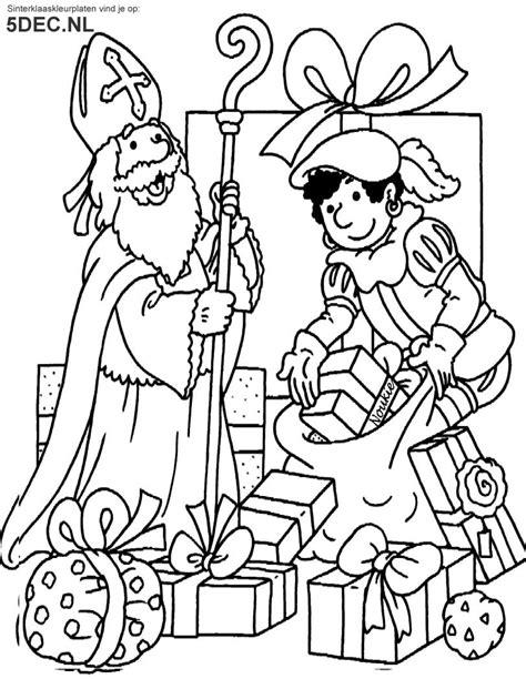 Kleurplaat Sint En Iet by Sinterklaas Knutselen Sinterklaas Kleurplaten