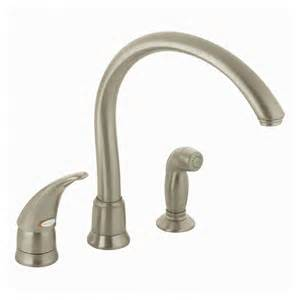 how to repair moen kitchen faucet shop moen monticello stainless steel single handle kitchen faucet with side spray at lowes com