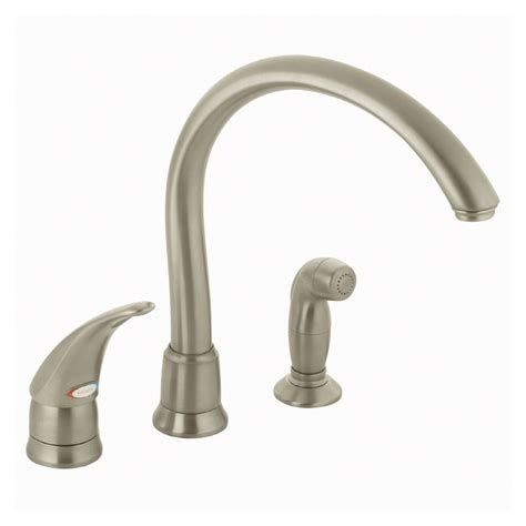 kitchen faucet with separate handle shop moen monticello stainless steel single handle kitchen