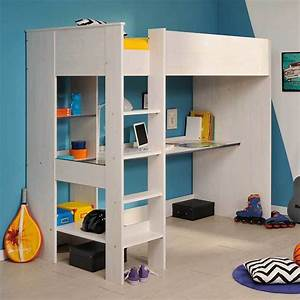 Lit Bureau Enfant : comparatif meilleurs lits mezzanine avec bureau int gr ~ Farleysfitness.com Idées de Décoration