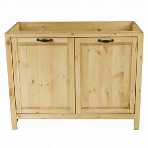 Meuble Sous Evier 120 : meuble sous vier en pin massif 120 cm 2 portes grenier ~ Nature-et-papiers.com Idées de Décoration