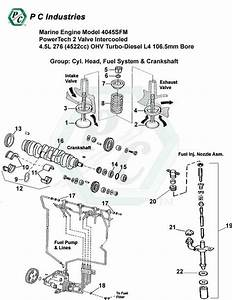 Marine Engine Model 4045sfm Powertech 2 Valve Intercooled