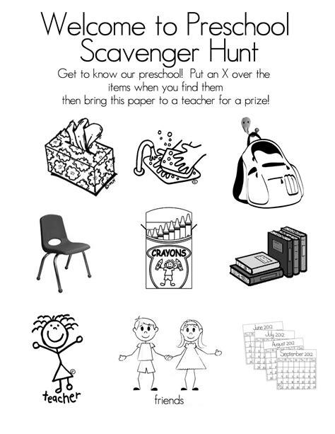 preschool open house free printable scavenger hunt tips 764 | Scavenger Hunt