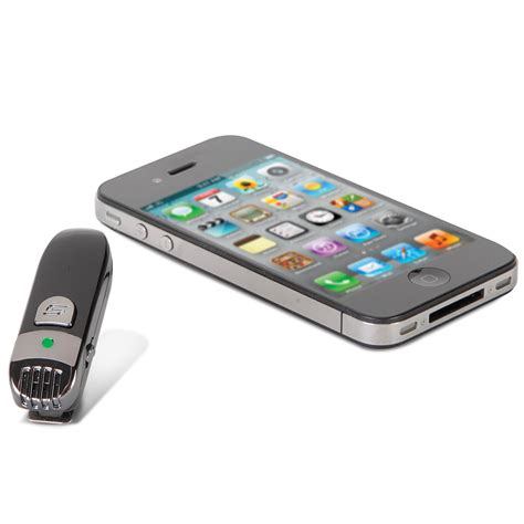wireless for iphone the wireless iphone microphone hammacher schlemmer