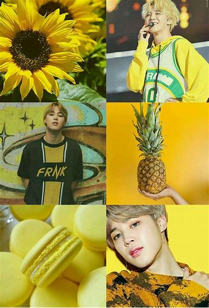 Bts Yellow Jimin Aesthetic Favorite Kpop Army