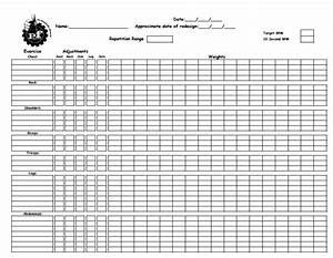 Planet Fitness Workout Sheet Training Worksheet To Record Gym Workouts From Planet
