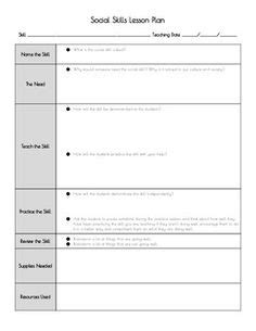 Social Skills Lesson Plan Template by 1000 Images About Behavior Social And Sensory Lessons