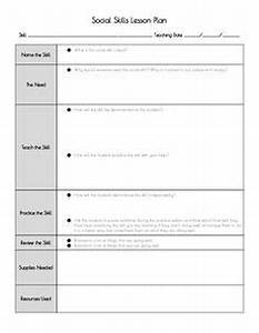 1000 images about behavior social and sensory lessons With social skills lesson plan template