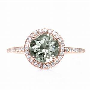 engagement rings rare earth rose gold green amethyst With rare earth wedding rings