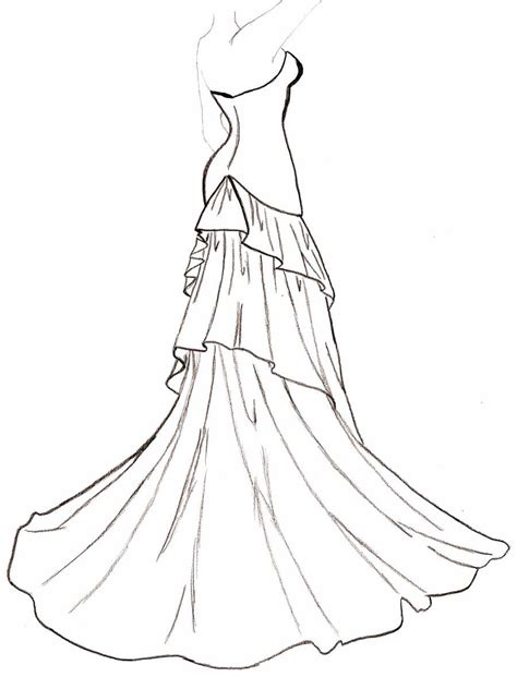 flowing dress coloring wedding drawing coloring pages