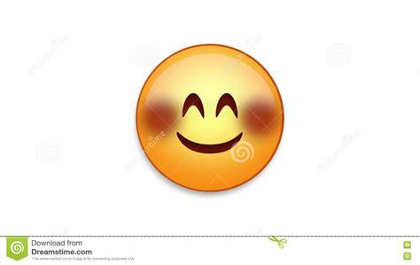 blushing emoji  luma matte stock photo image