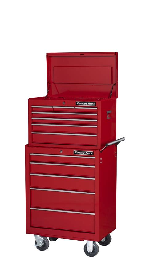 7 drawer rolling tool cabinet extreme tools 26 quot 7 drawer top chest and 5 drawer roller