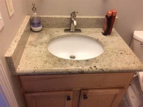 How To Install Bathroom Vanity Against Wall - vanity top installation against a wall