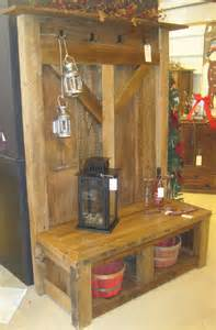 Bookshelf With Cabinet Base by Farmhouse Coat Rack Fence Row Furniture