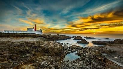 Portugal Paisajes Cabo Costa Cascais Scenery Fondos