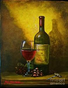 Wine Shadow Ombra Di Vino Painting by Italian Art